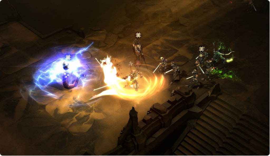 A fight in Diablo 3
