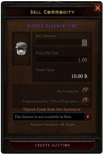 Diablo 3 Real-money Auction House