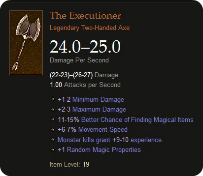 Diablo 3 Weapon